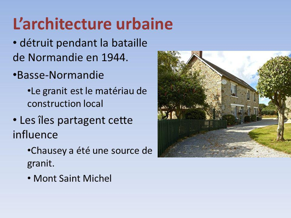 L'architecture urbaine