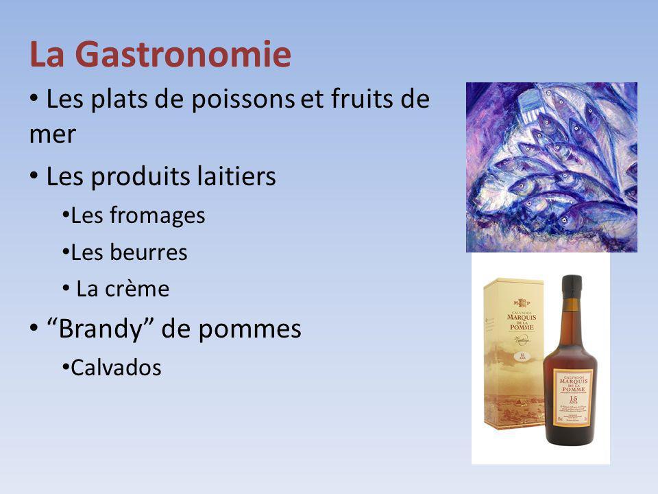 La Gastronomie Les plats de poissons et fruits de mer