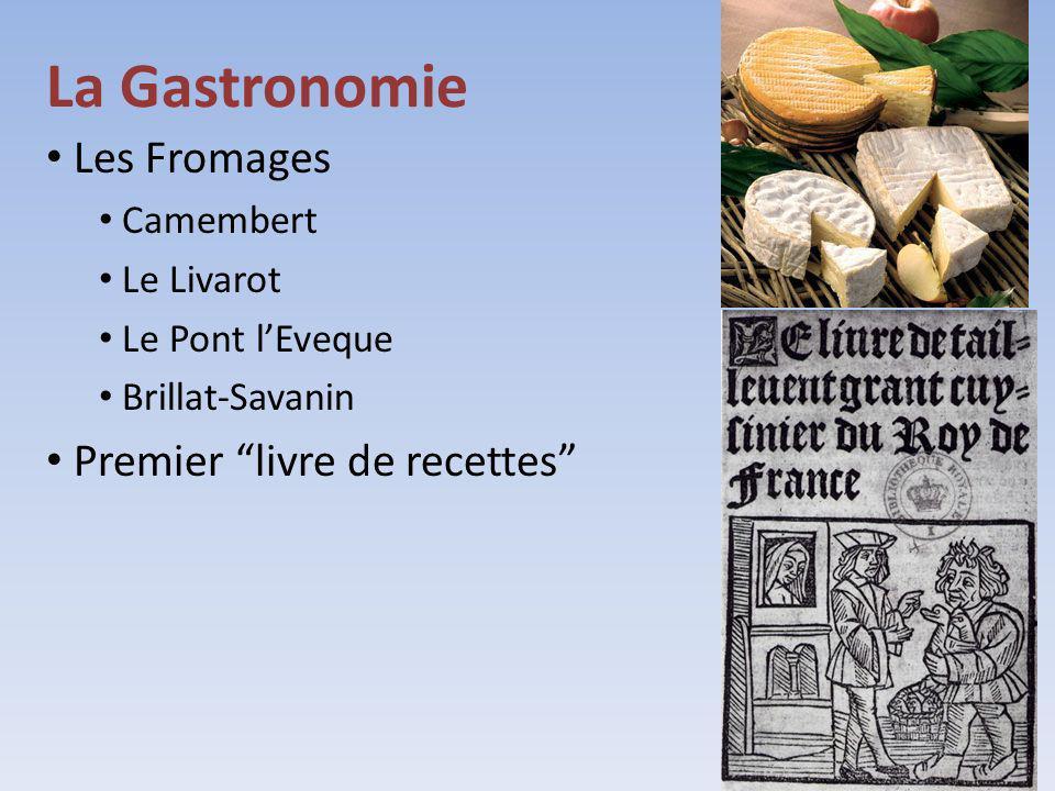 La Gastronomie Les Fromages Premier livre de recettes Camembert