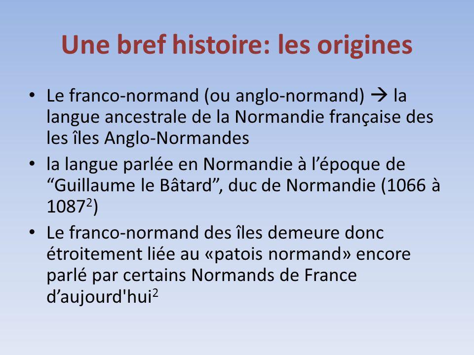 Une bref histoire: les origines