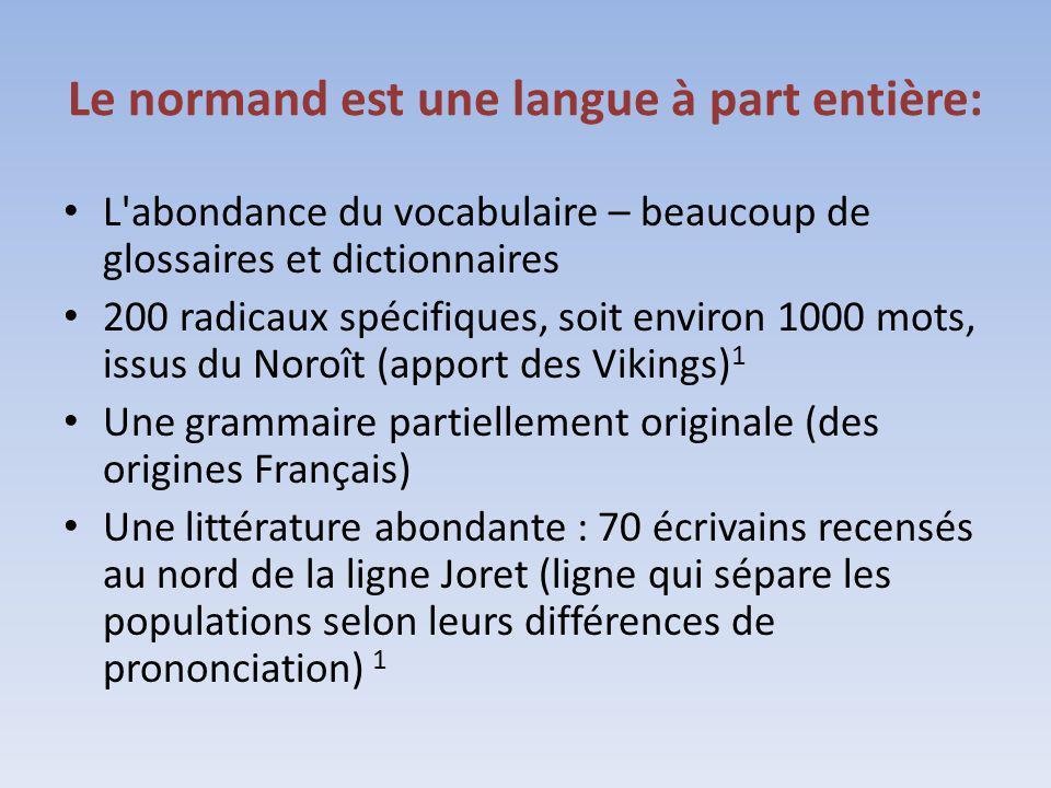 Le normand est une langue à part entière: