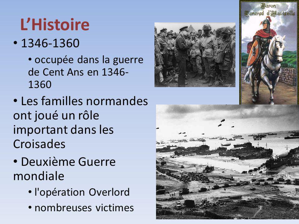L'Histoire 1346-1360. occupée dans la guerre de Cent Ans en 1346-1360. Les familles normandes ont joué un rôle important dans les Croisades.