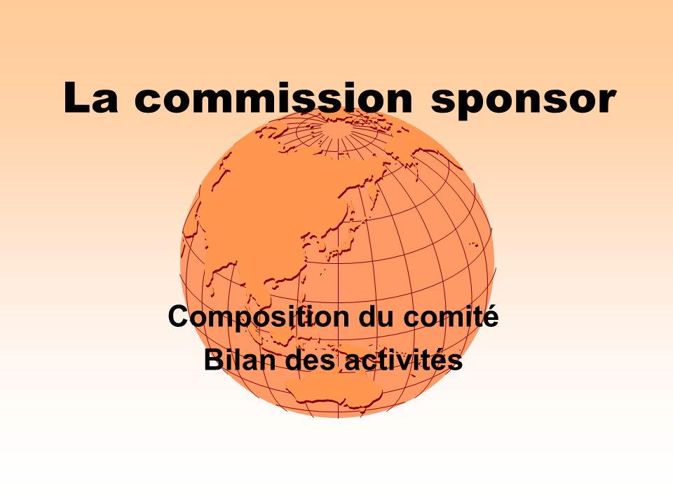 Composition du comité Bilan des activités