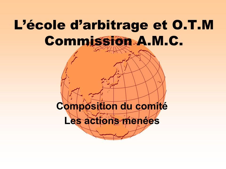 L'école d'arbitrage et O.T.M Commission A.M.C.