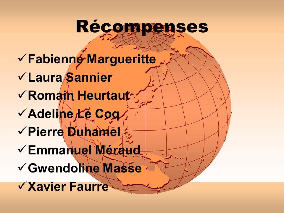 Récompenses Fabienne Margueritte Laura Sannier Romain Heurtaut
