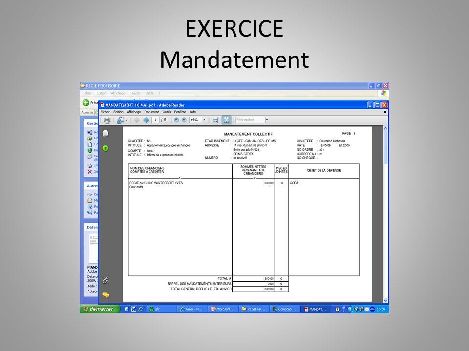 EXERCICE Mandatement