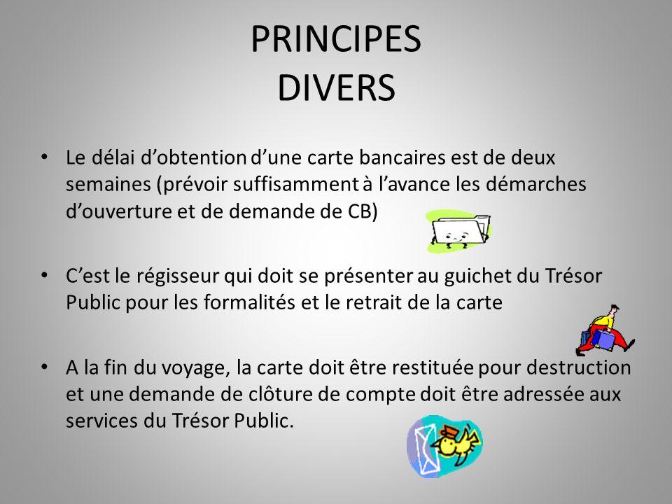 PRINCIPES DIVERS
