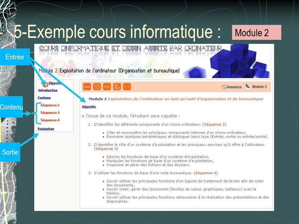 5-Exemple cours informatique :