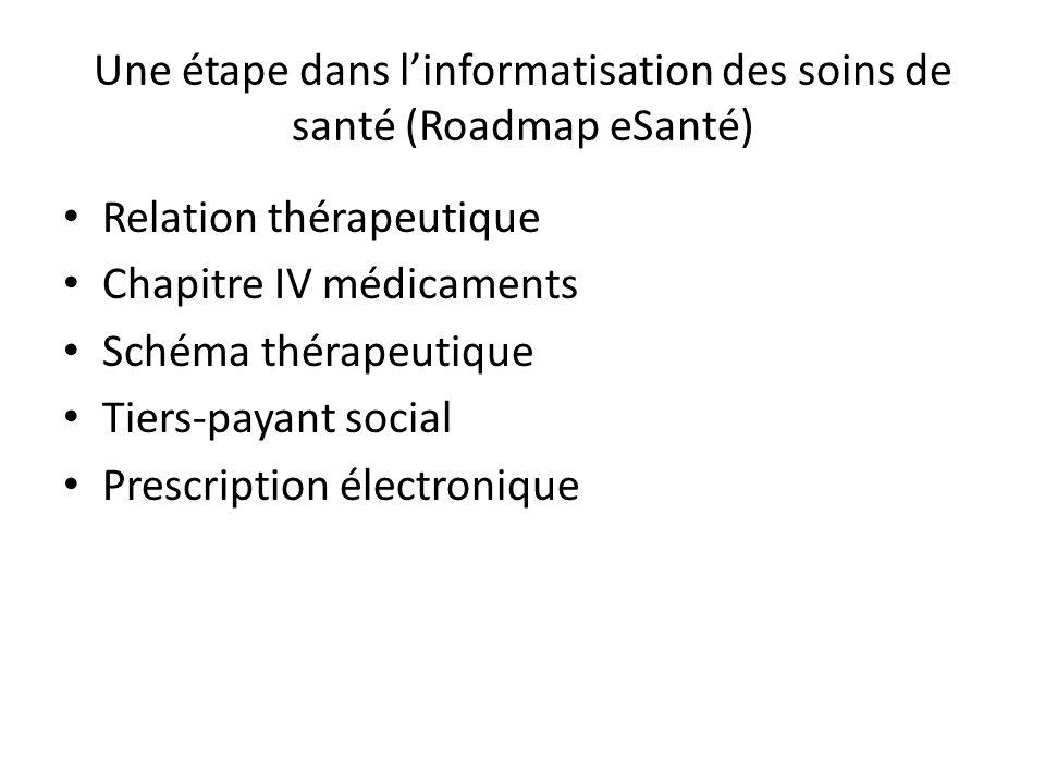 Une étape dans l'informatisation des soins de santé (Roadmap eSanté)