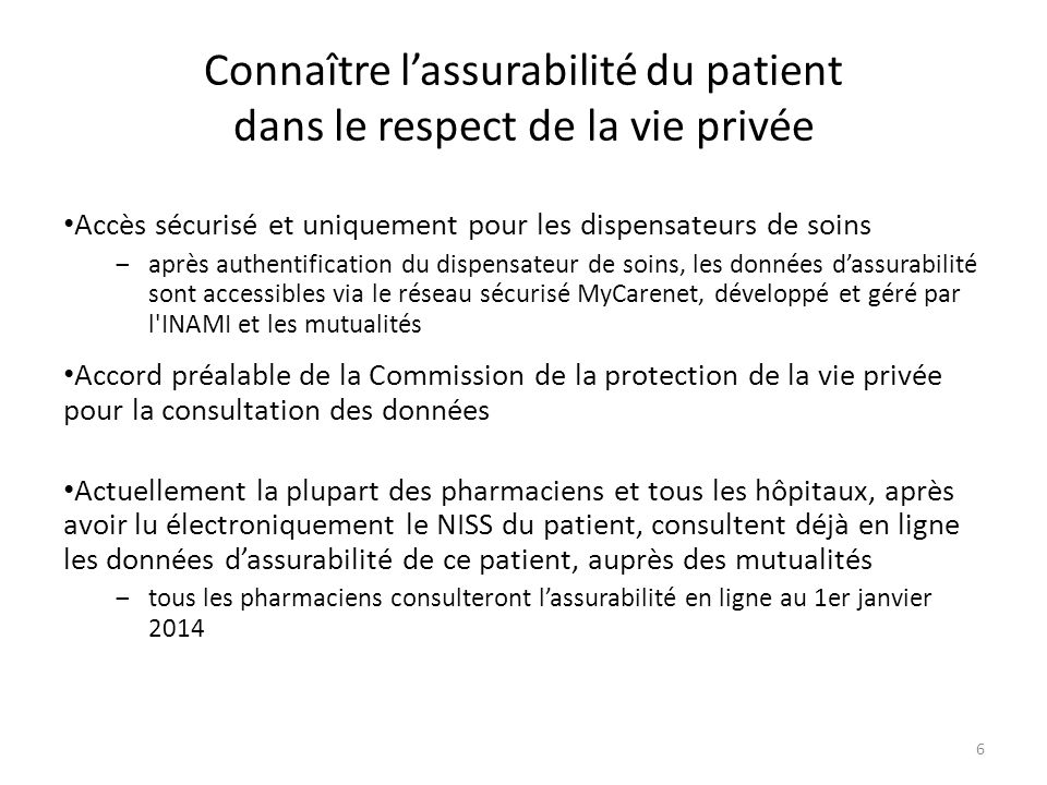 Connaître l'assurabilité du patient dans le respect de la vie privée