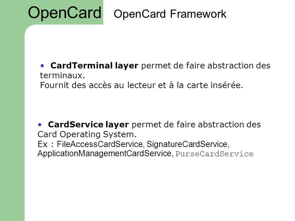 OpenCard OpenCard Framework