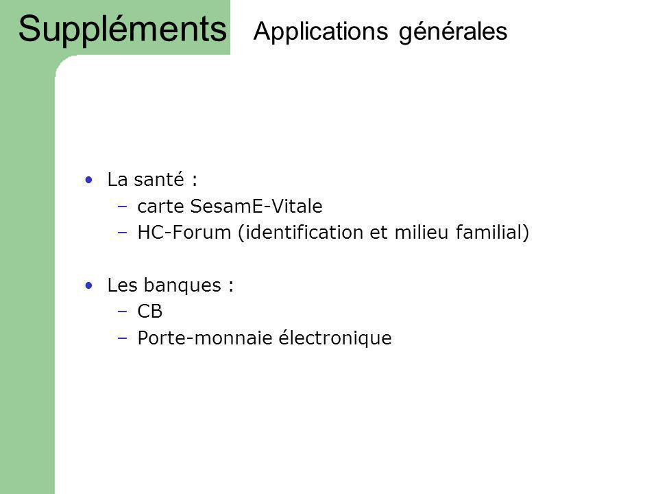 Applications générales