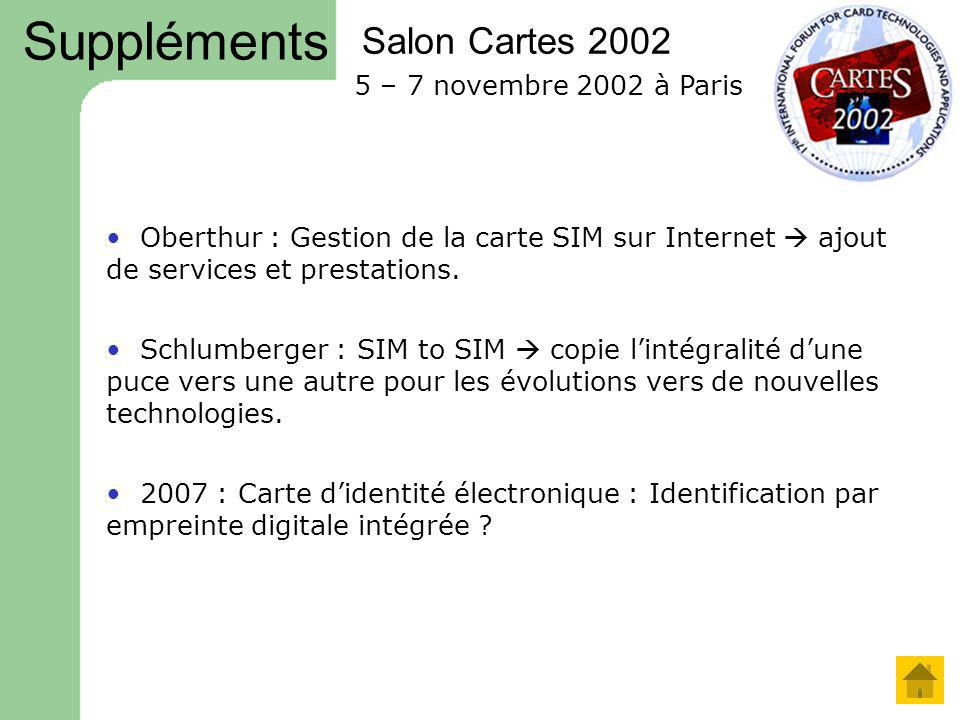 Suppléments Salon Cartes 2002 5 – 7 novembre 2002 à Paris