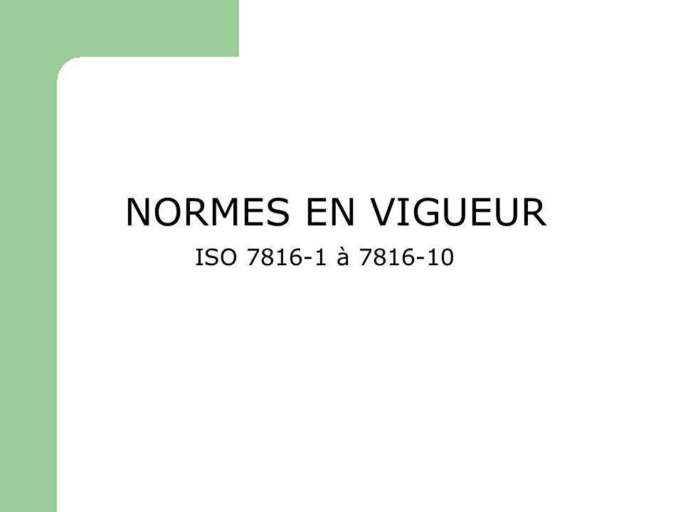 NORMES EN VIGUEUR ISO 7816-1 à 7816-10