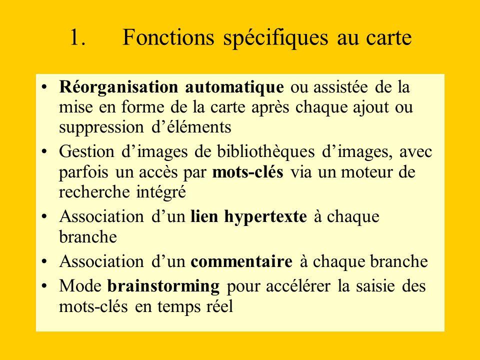 1. Fonctions spécifiques au carte