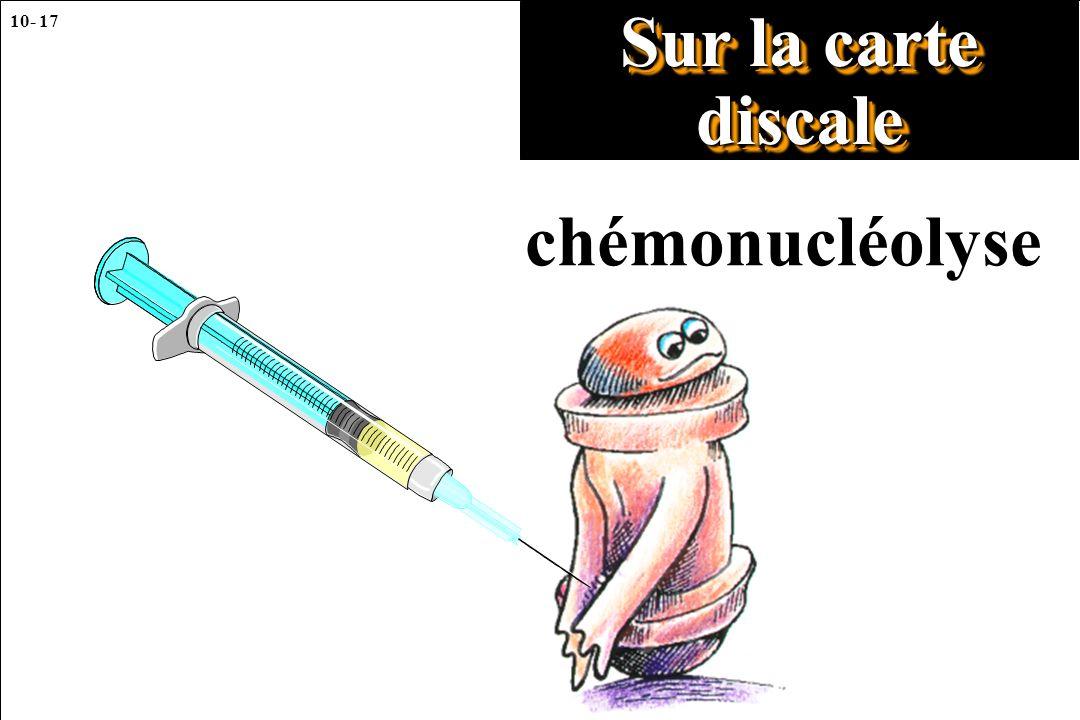 Sur la carte discale chémonucléolyse