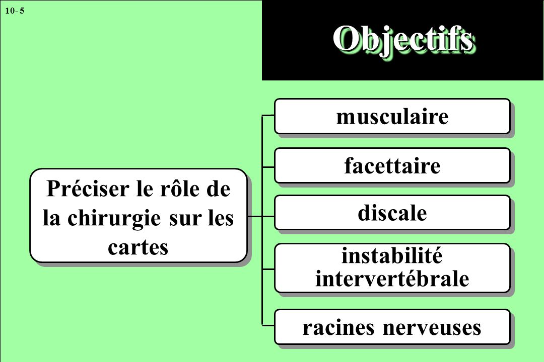 Objectifs musculaire facettaire