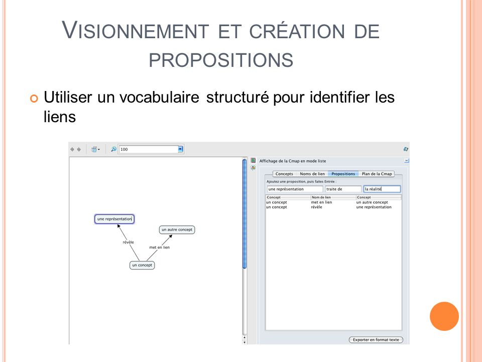 Visionnement et création de propositions