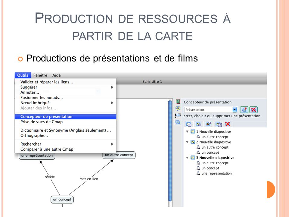 Production de ressources à partir de la carte