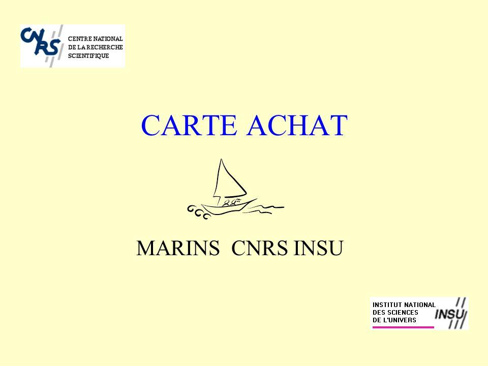 CARTE ACHAT MARINS CNRS INSU