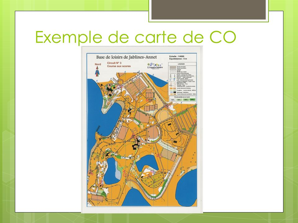 Exemple de carte de CO