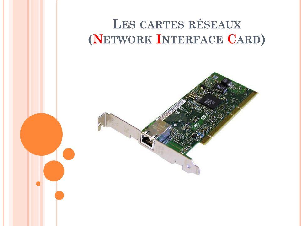 Les cartes réseaux (Network Interface Card)