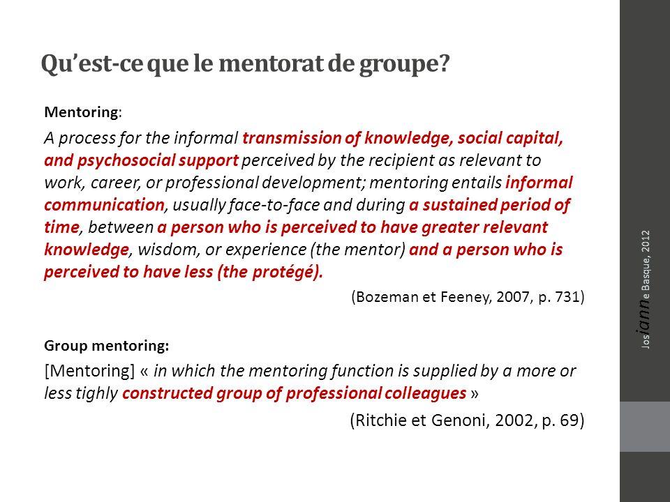 Qu'est-ce que le mentorat de groupe