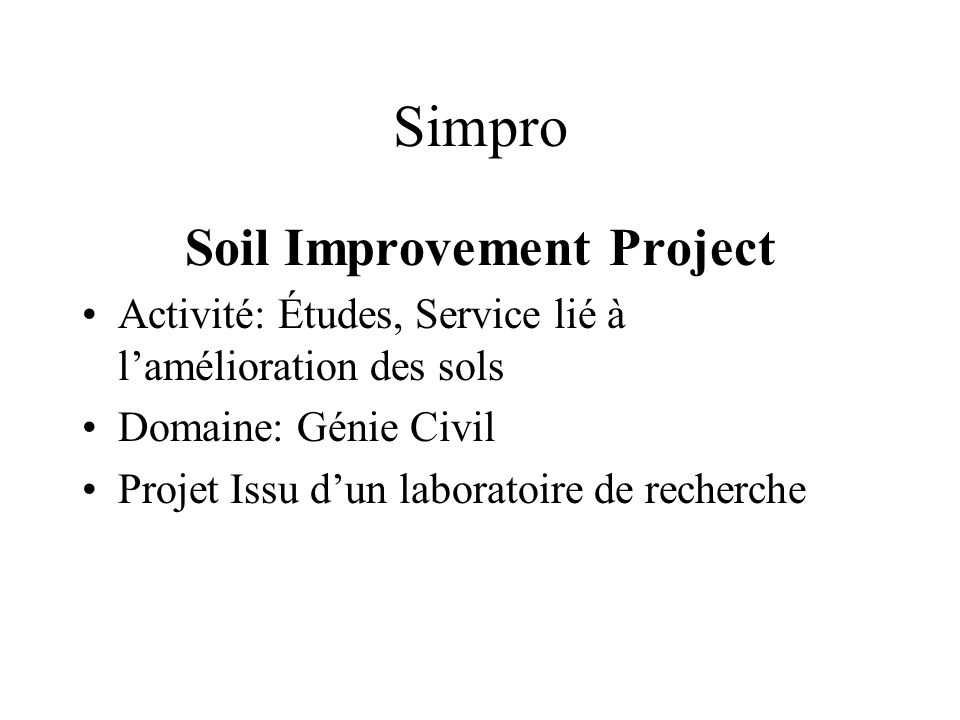 Soil Improvement Project