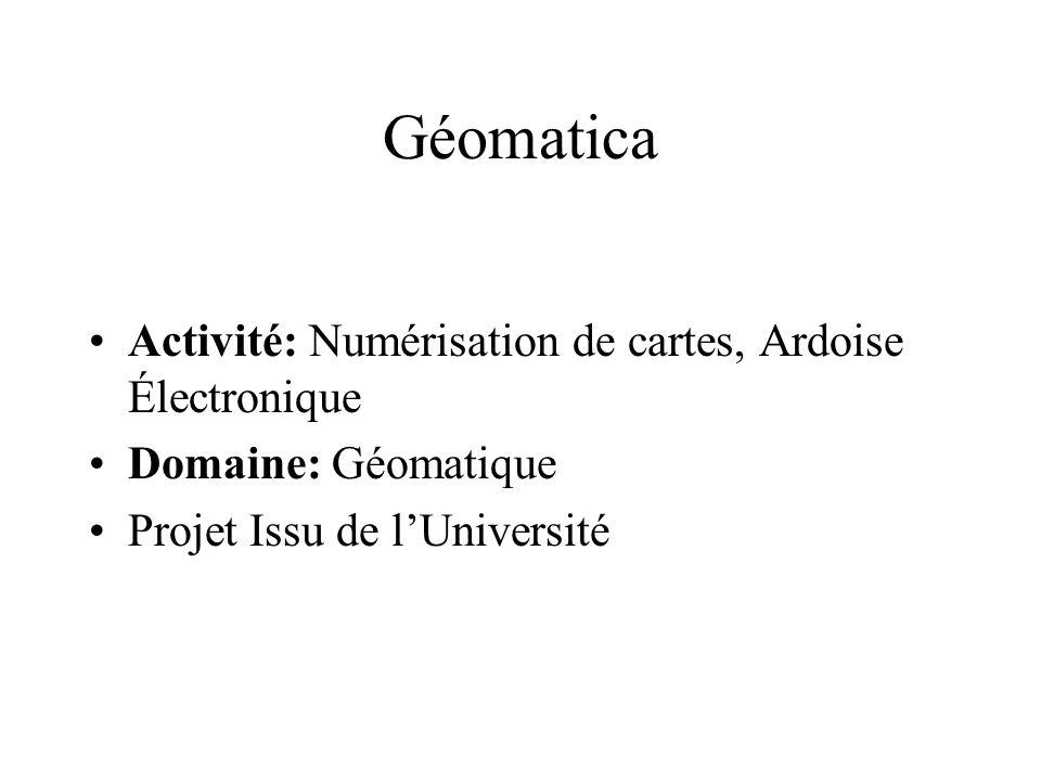 Géomatica Activité: Numérisation de cartes, Ardoise Électronique