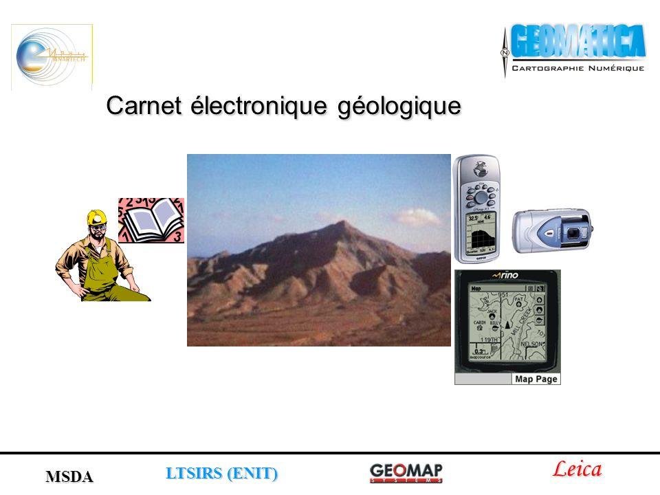 Carnet électronique géologique