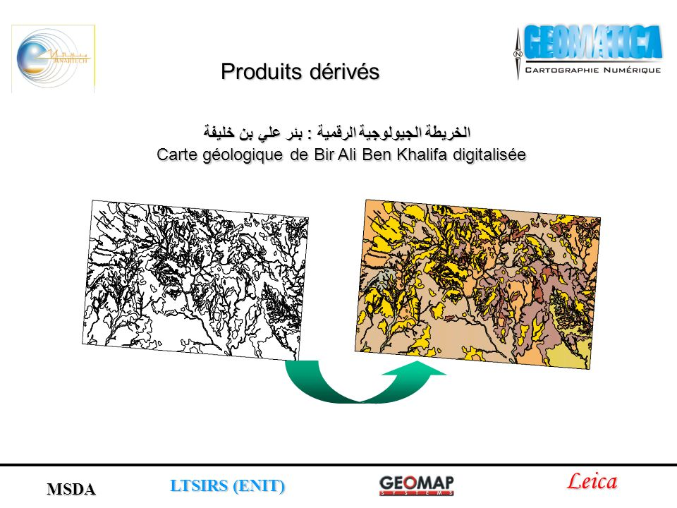 Carte géologique de Bir Ali Ben Khalifa digitalisée