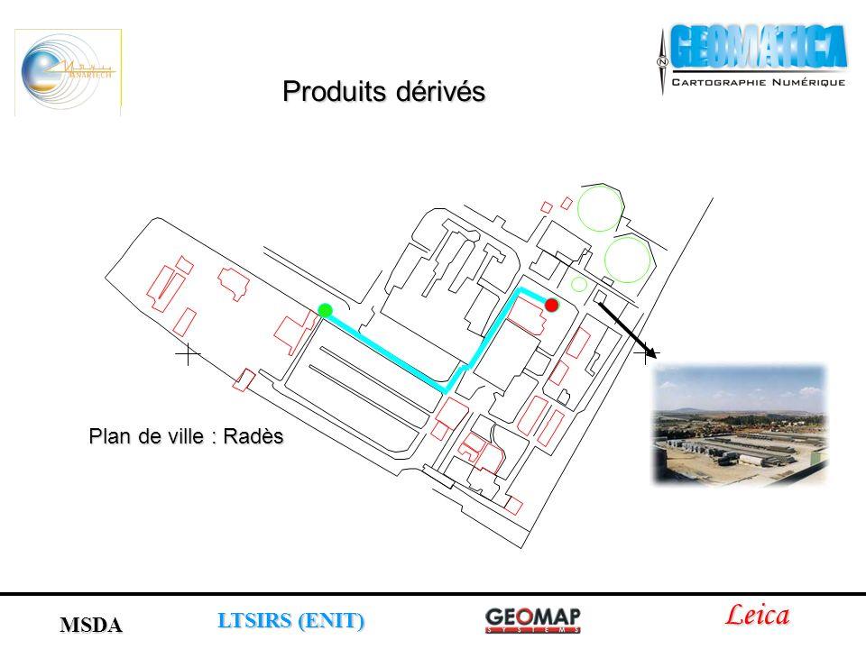 Produits dérivés Plan de ville : Radès Leica MSDA LTSIRS (ENIT)