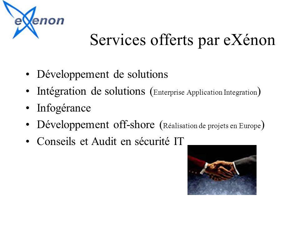 Services offerts par eXénon
