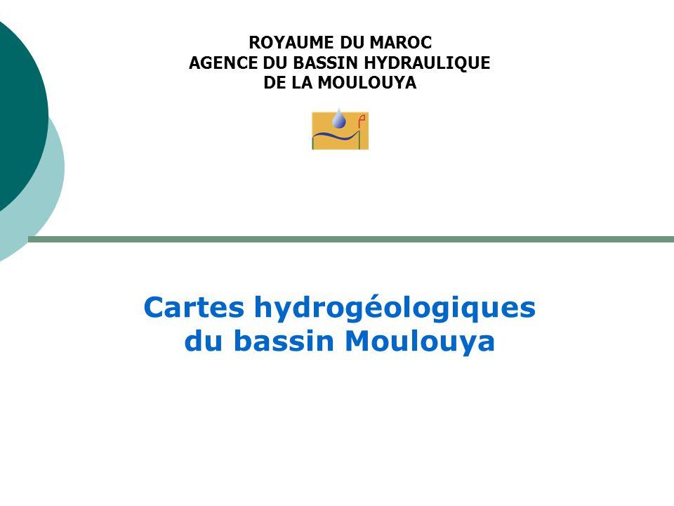 Cartes hydrogéologiques du bassin Moulouya
