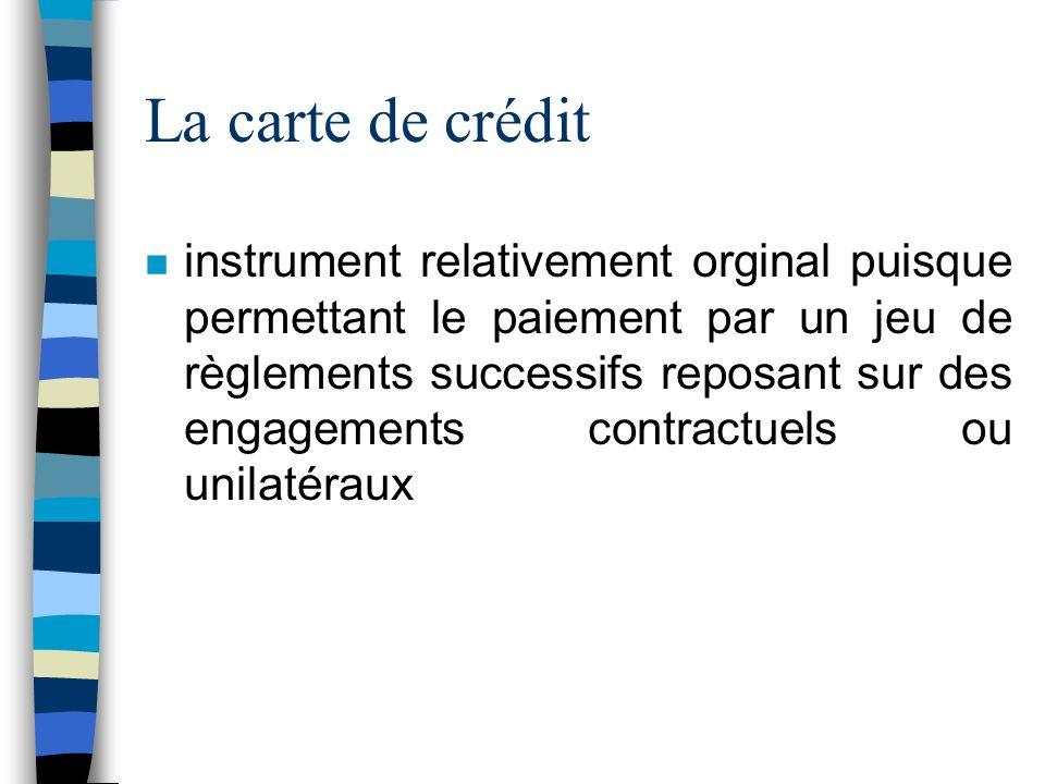 La carte de crédit
