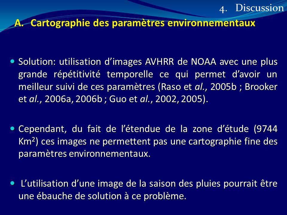 Cartographie des paramètres environnementaux