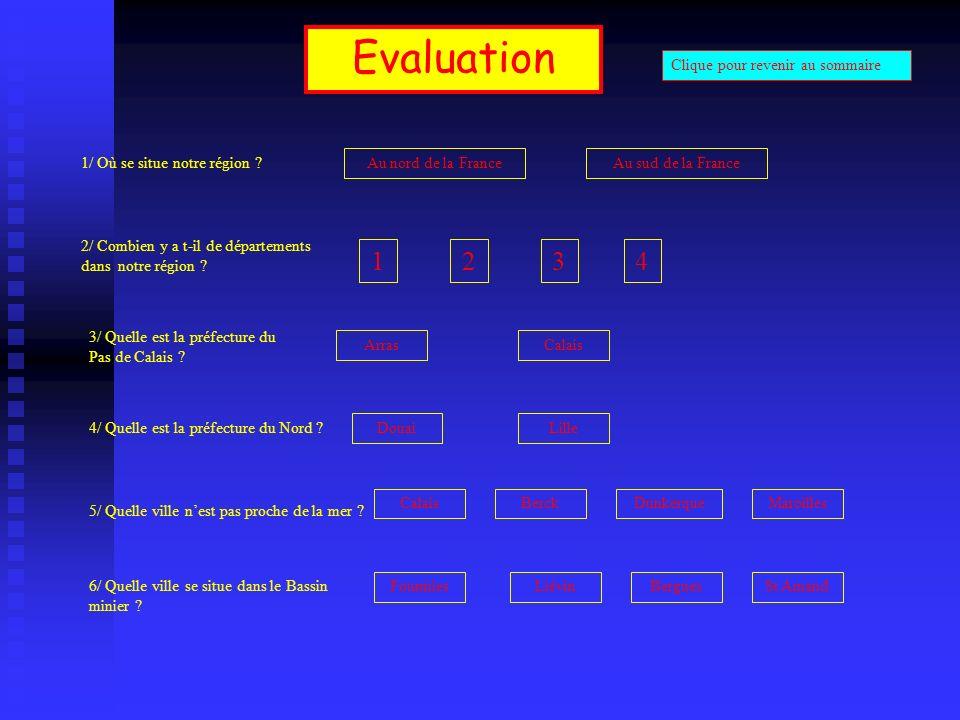 Evaluation 1 2 3 4 Clique pour revenir au sommaire
