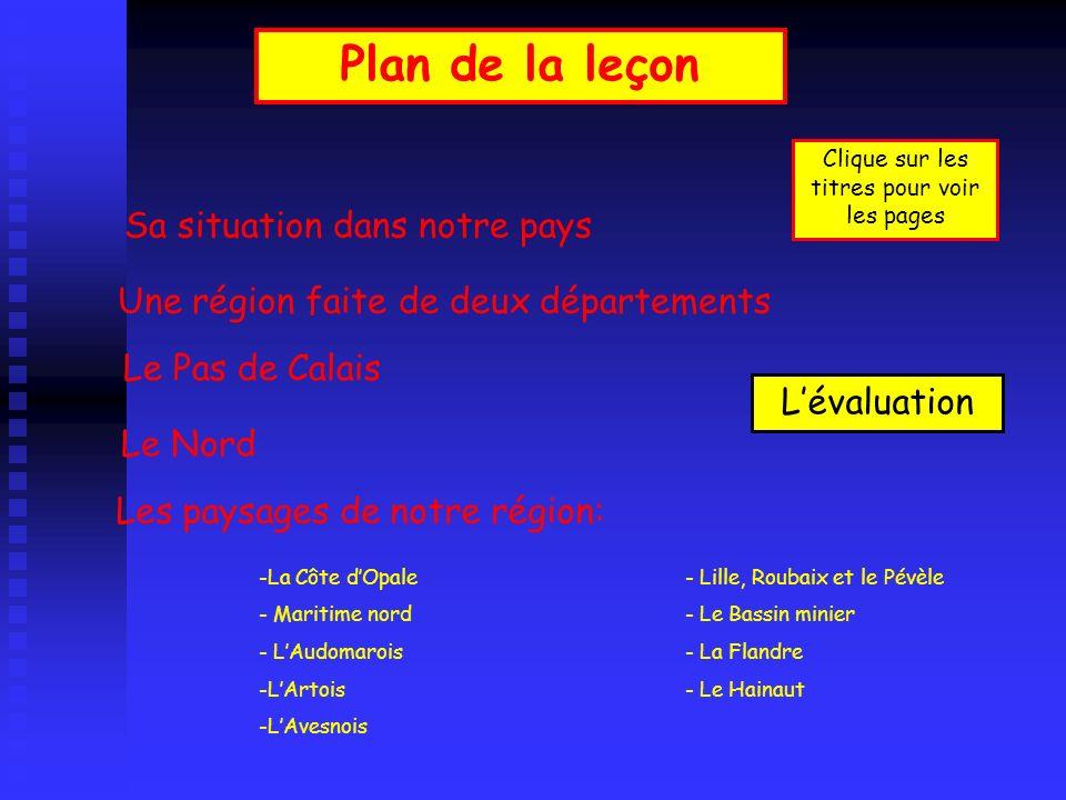 Plan de la leçon Sa situation dans notre pays