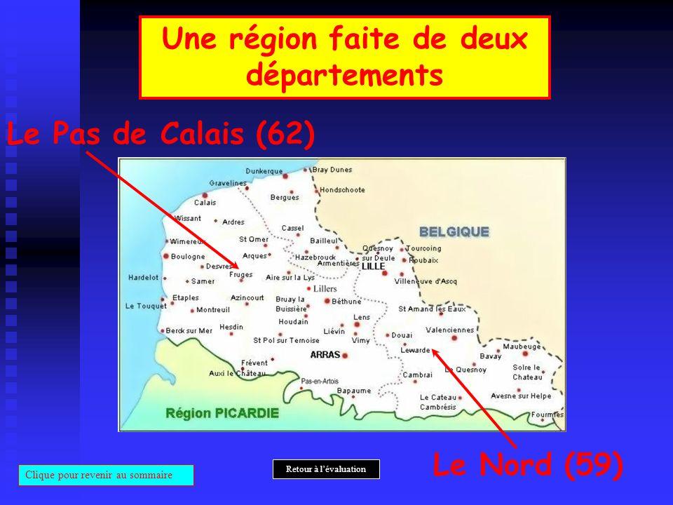 Une région faite de deux départements