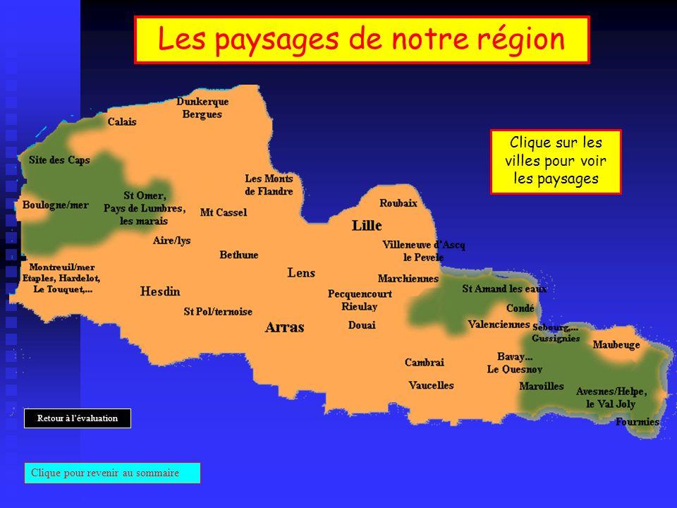 Les paysages de notre région