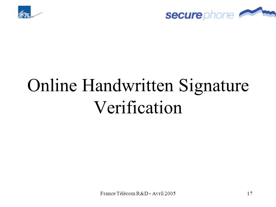 Online Handwritten Signature Verification