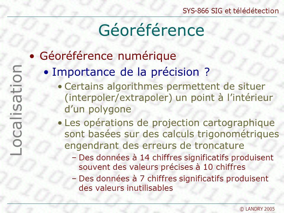Géoréférence Localisation Géoréférence numérique