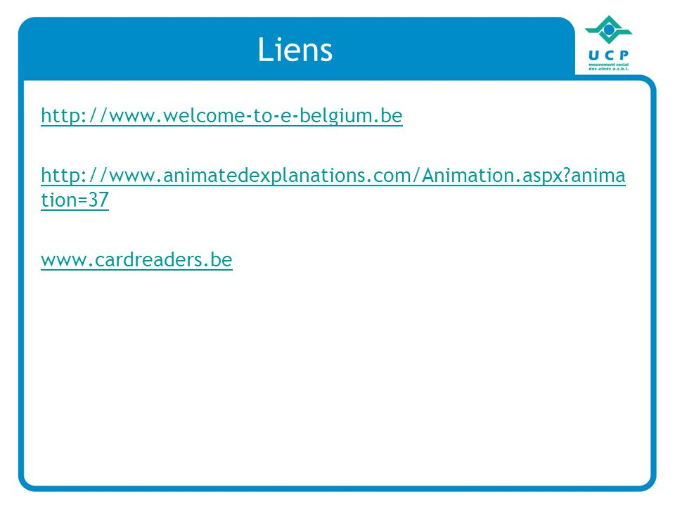 Liens http://www.welcome-to-e-belgium.be