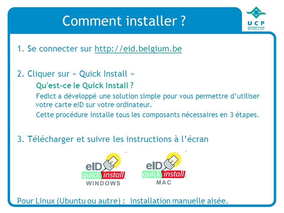 Comment installer 1. Se connecter sur http://eid.belgium.be