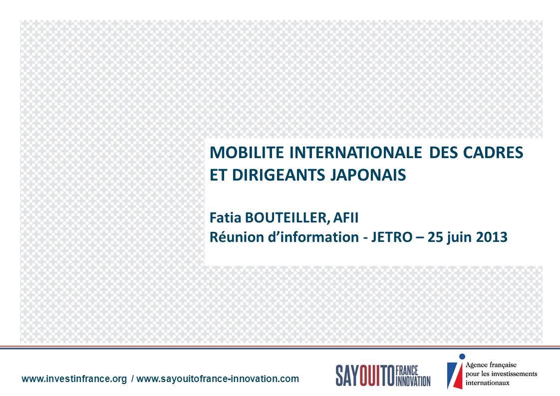 MOBILITE INTERNATIONALE DES CADRES ET DIRIGEANTS JAPONAIS