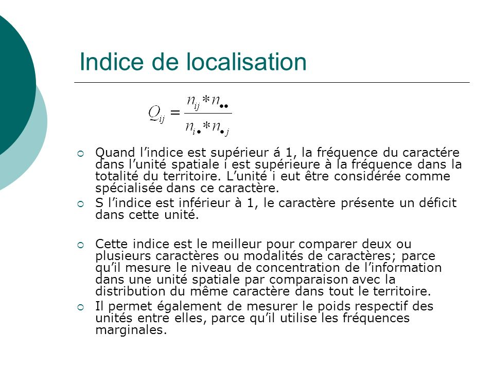 Indice de localisation