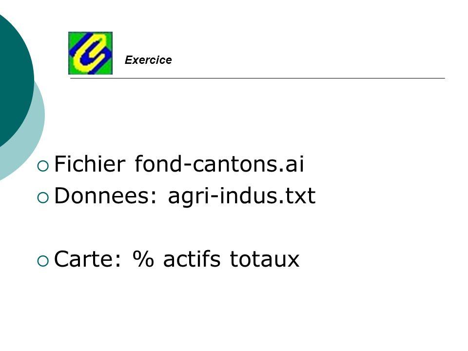 Fichier fond-cantons.ai Donnees: agri-indus.txt Carte: % actifs totaux