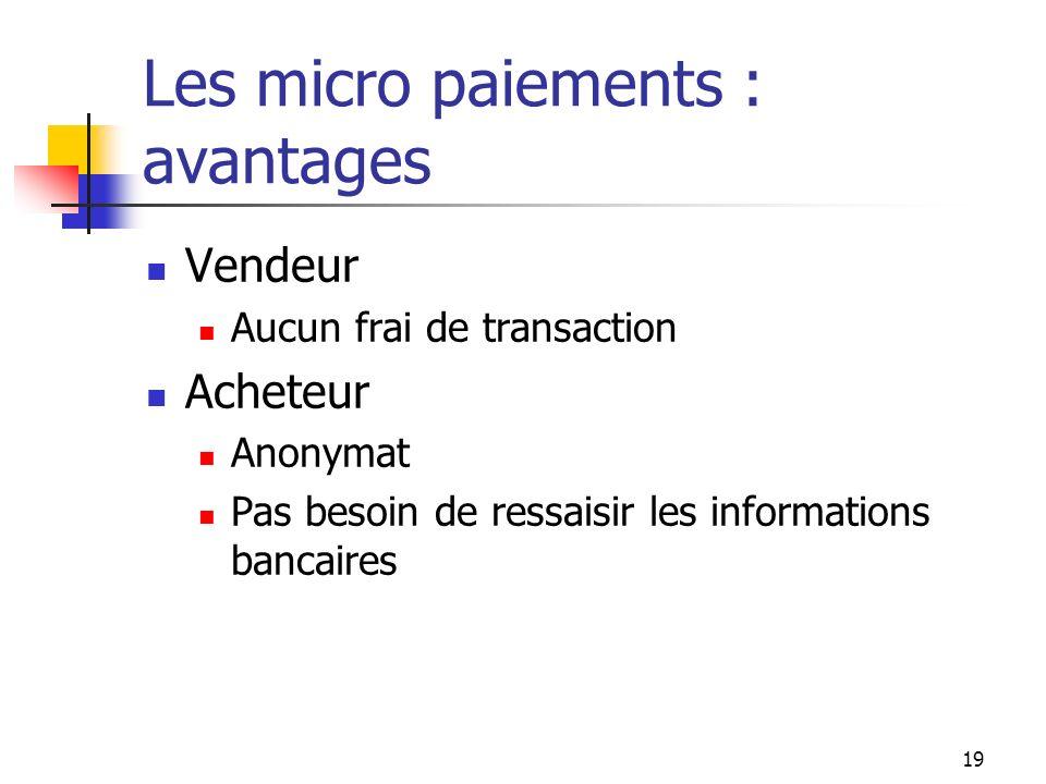 Les micro paiements : avantages