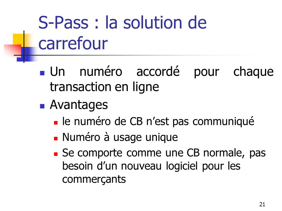 S-Pass : la solution de carrefour