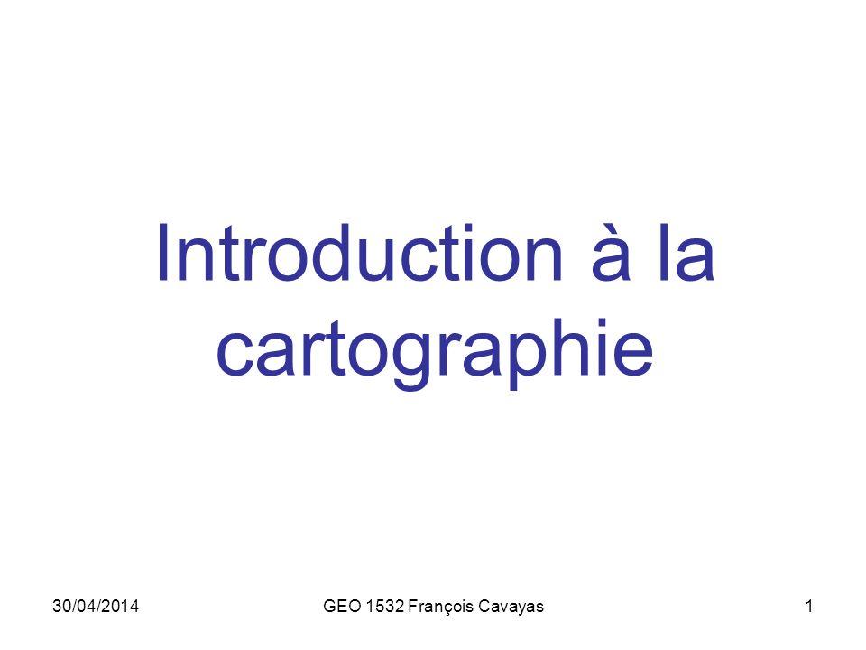 Introduction à la cartographie
